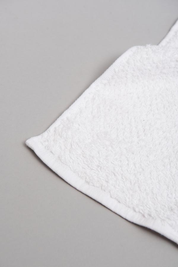 toalla antimicrobiana blanca de efecto granité
