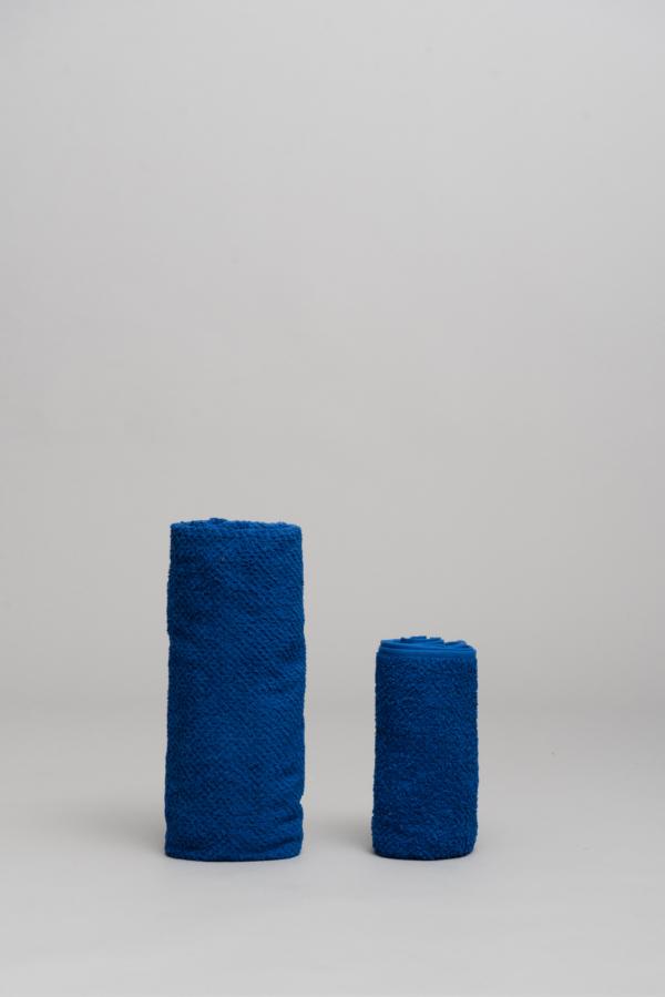 pack 2 toallas azul